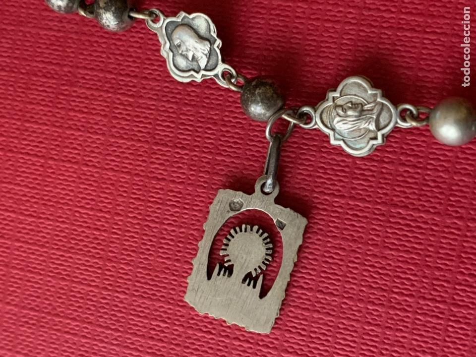 Antigüedades: Magnífico rosario de colección en plata de Ley - Foto 4 - 193803853