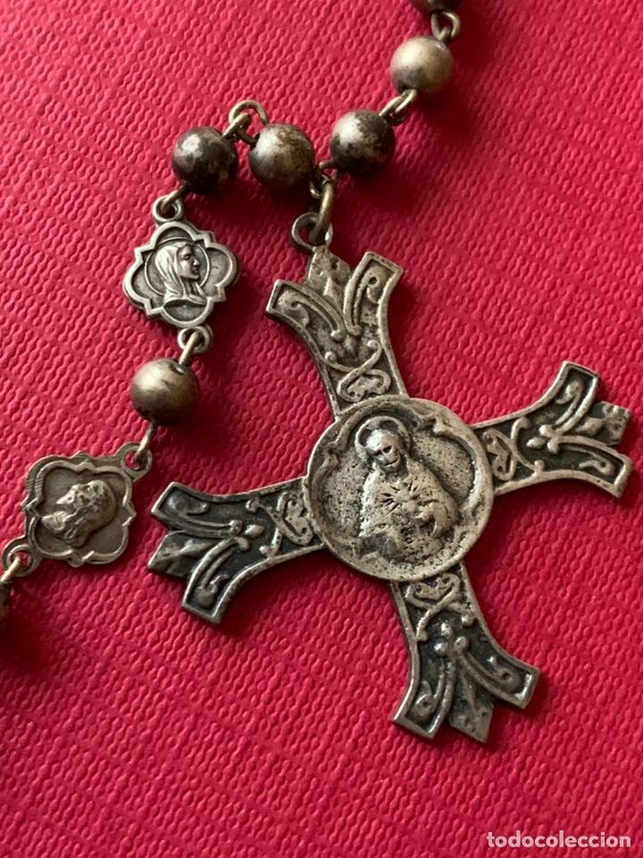 Antigüedades: Magnífico rosario de colección en plata de Ley - Foto 6 - 193803853