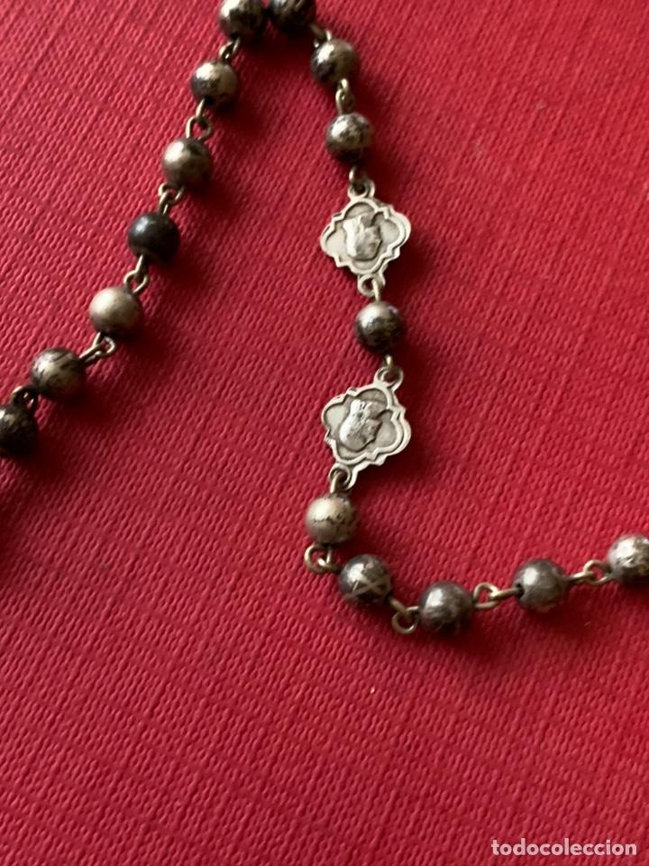 Antigüedades: Magnífico rosario de colección en plata de Ley - Foto 7 - 193803853
