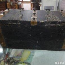 Antigüedades: ANTIGUA ARCA DE MADERA AÑOS 50 32X15,50X15. Lote 193808336