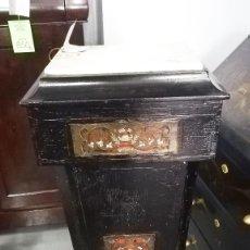 Antigüedades: PEANA BOULLE DE MADERA NEGRA SIGLO XIX. Lote 189315863