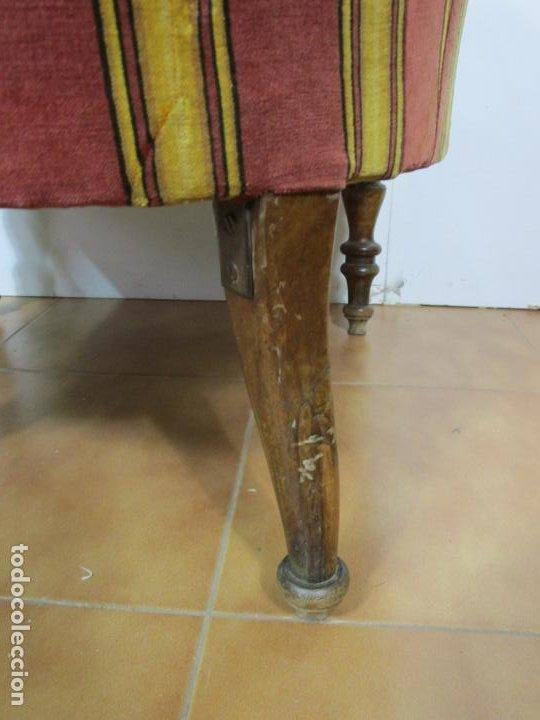 Antigüedades: Pareja de Sillones Isabelinos - Sillón Madera de Caoba - Tapicería Original - S. XIX - Foto 9 - 193825651
