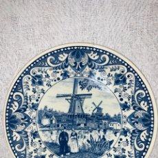 Antigüedades: PLATO DE PORCELANA DECORATIVO DELFT'S. Lote 193833081