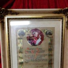 Antigüedades: BONITO MARCO DE MADERA IMITACION MARFIL. Lote 193833087