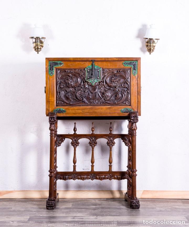 BARGUEÑO MUEBLE BAR ANTIGUO (Antigüedades - Muebles Antiguos - Bargueños Antiguos)