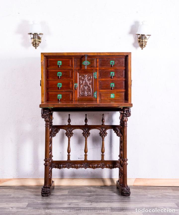 Antigüedades: Bargueño Mueble Bar Antiguo - Foto 2 - 193836305