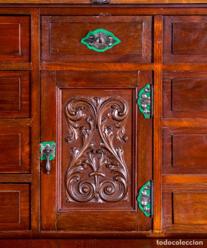 Antigüedades: Bargueño Mueble Bar Antiguo - Foto 3 - 193836305