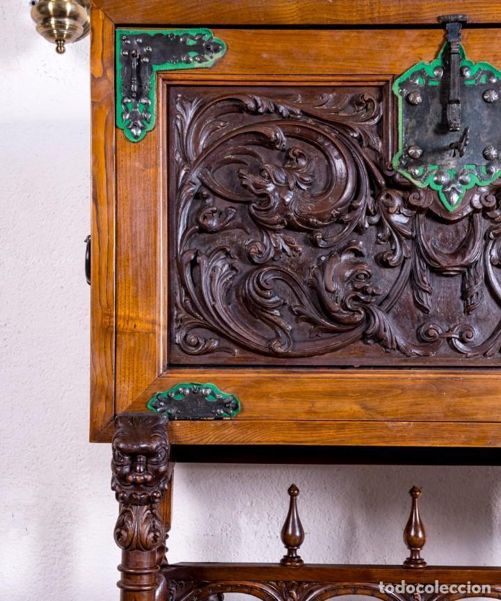 Antigüedades: Bargueño Mueble Bar Antiguo - Foto 4 - 193836305