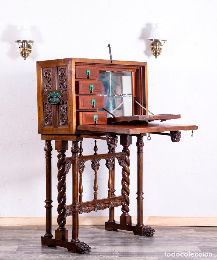 Antigüedades: Bargueño Mueble Bar Antiguo - Foto 6 - 193836305