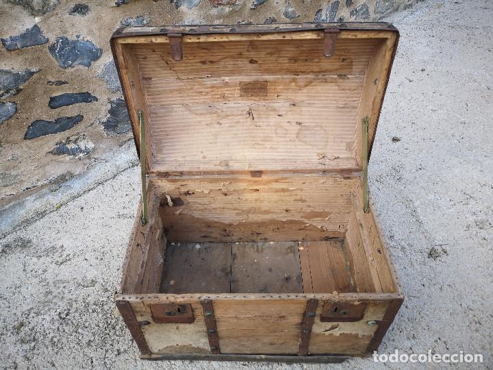 Antigüedades: PEQUEÑO BAUL COFRE ANTIGUO (VER FOTOS) - Foto 7 - 193842150