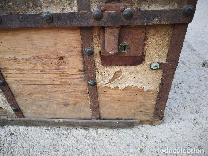 Antigüedades: PEQUEÑO BAUL COFRE ANTIGUO (VER FOTOS) - Foto 12 - 193842150
