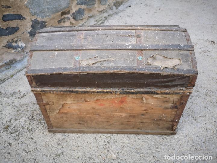 Antigüedades: PEQUEÑO BAUL COFRE ANTIGUO (VER FOTOS) - Foto 14 - 193842150