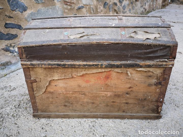 Antigüedades: PEQUEÑO BAUL COFRE ANTIGUO (VER FOTOS) - Foto 16 - 193842150