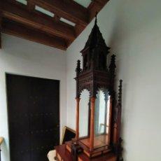 Antigüedades: PRECIOSA VITRINA NEOGÓTICA SIGLO XIX. CAOBA CUBANA Y HAITI.. Lote 193851256