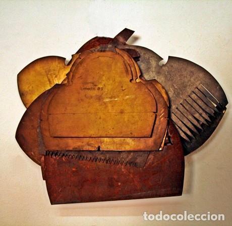 Antigüedades: Moldes de peinetas de fallera valenciana - Foto 2 - 193886620