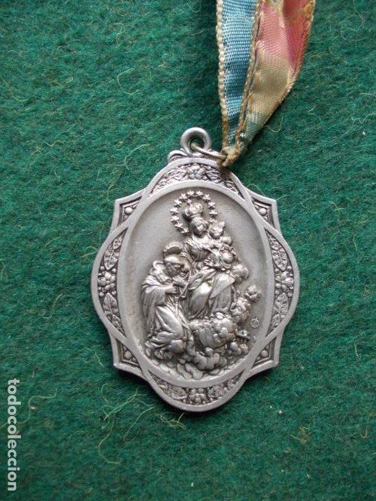 MEDALLA DE LA VIRGEN DEL ROSARIO PERPETUO ANTIGUA (Antigüedades - Religiosas - Medallas Antiguas)