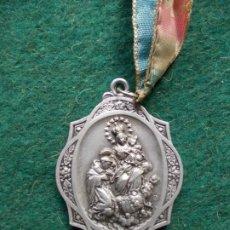 Antigüedades: MEDALLA DE LA VIRGEN DEL ROSARIO PERPETUO ANTIGUA. Lote 193886700