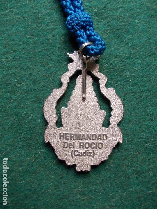 Antigüedades: MEDALLA HERMANDAD DEL ROCIO CADIZ ANTIGUA - Foto 2 - 193886932