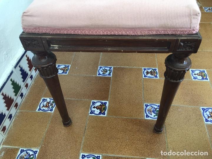 Antigüedades: Antigua banqueta de la casa valenciana de Picaña Francisco Bermell Serrador - Foto 2 - 193890708
