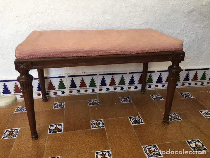 ANTIGUA BANQUETA DE LA CASA VALENCIANA DE PICAÑA FRANCISCO BERMELL SERRADOR (Antigüedades - Muebles Antiguos - Auxiliares Antiguos)