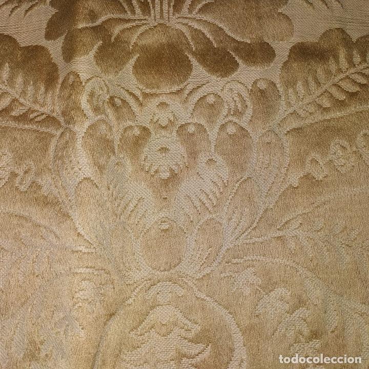 Antigüedades: GRAN CORTINAJE EN BROCADO DE SEDA O VISCOSA. 220X256. ESPAÑA. PRINCIPIO SIGLO XX - Foto 14 - 193901006