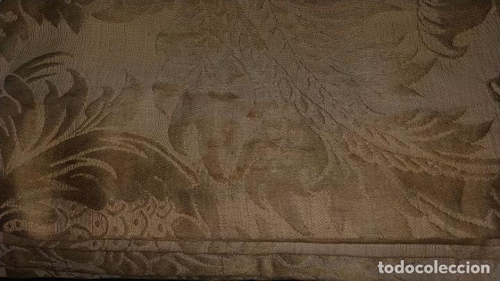 Antigüedades: GRAN CORTINAJE EN BROCADO DE SEDA O VISCOSA. 220X256. ESPAÑA. PRINCIPIO SIGLO XX - Foto 22 - 193901006
