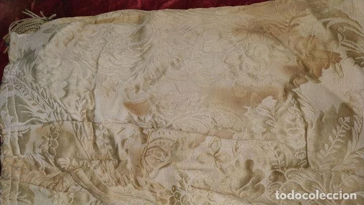 Antigüedades: GRAN CORTINAJE EN BROCADO DE SEDA O VISCOSA. 220X256. ESPAÑA. PRINCIPIO SIGLO XX - Foto 29 - 193901006