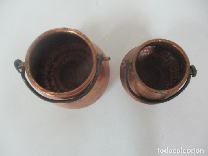 Antigüedades: Pequeñas Ollas - Olla de Cobre - Asa en Hierro - Principios S. XX - Foto 5 - 193902126