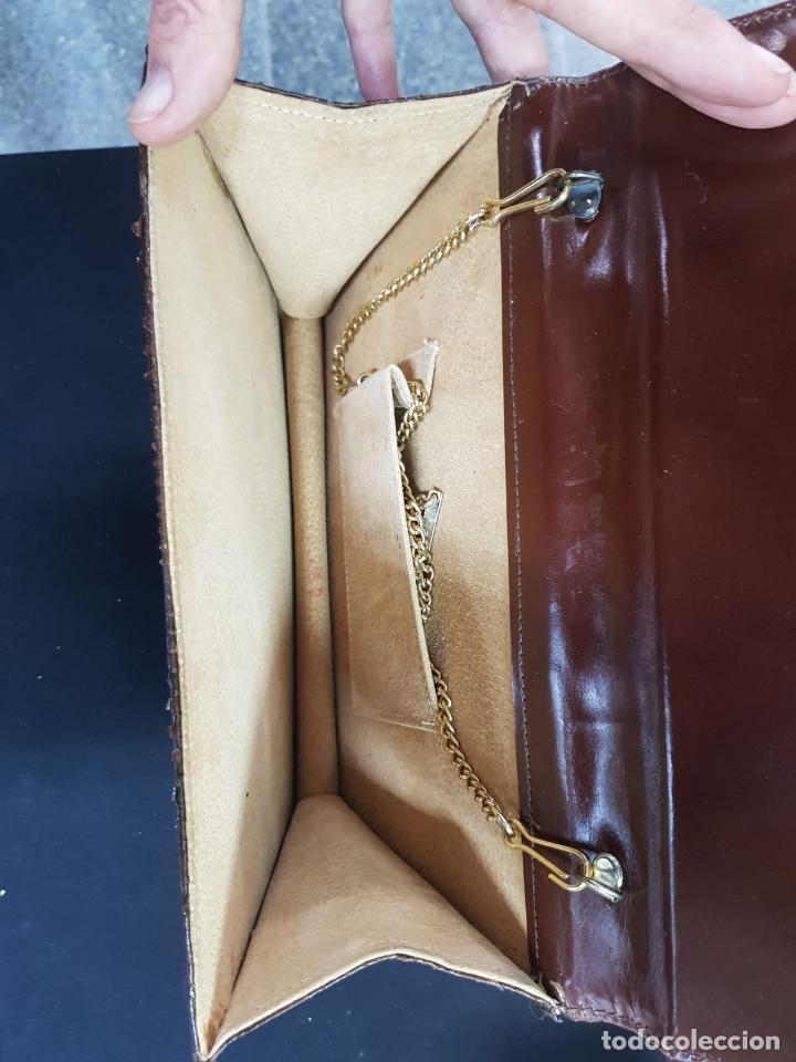 Antigüedades: bolso de piel de serpiente de los años 70 en buen estado - Foto 5 - 193909943