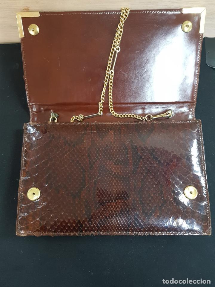Antigüedades: bolso de piel de serpiente de los años 70 en buen estado - Foto 6 - 193909943