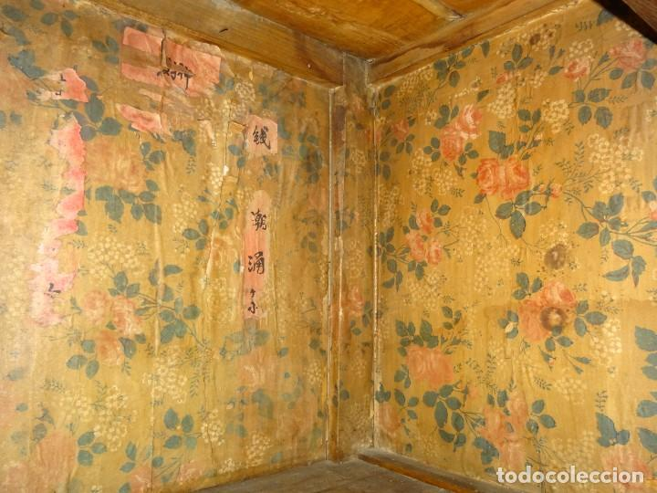 Antigüedades: Armario chino, S.XIX, en madera de olmo y bronce - Foto 31 - 193912053