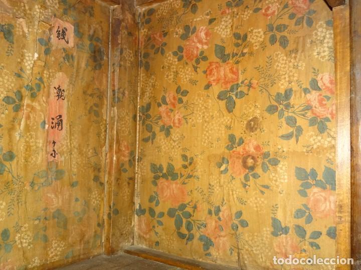 Antigüedades: Armario chino, S.XIX, en madera de olmo y bronce - Foto 32 - 193912053