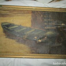 Antigüedades: ANTIGUA PINTURA AL OLEO. Lote 193926817