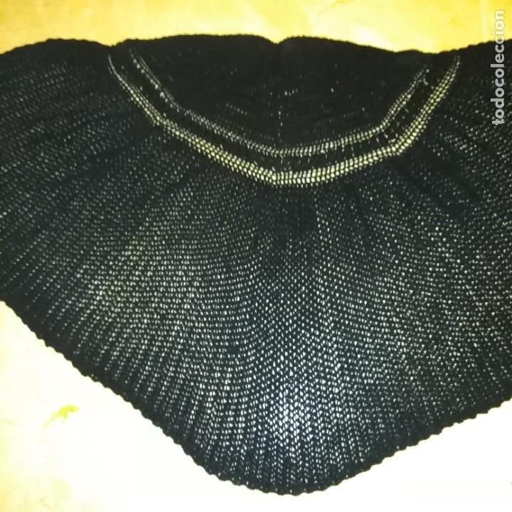 Antigüedades: Antigua Toquilla pelerina de lana manual del siglo xix - Foto 5 - 193944182