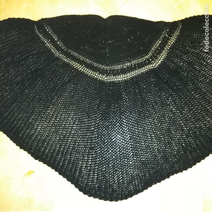 Antigüedades: Antigua Toquilla pelerina de lana manual del siglo xix - Foto 9 - 193944182