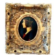 Antigüedades: ANTIGUO MARCO ESTILO ROCOCO EN ESTUCO CON IMAGEN DE DAMA. Lote 193945161