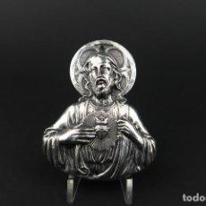 Antiguidades: ANTIGUA PLACA DE PLATA CRISTO. Lote 193956947