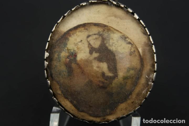 Antigüedades: Antiguo Relicario de Plata con varias Reliquias de Santos Siglo XVIII - Foto 9 - 193957743
