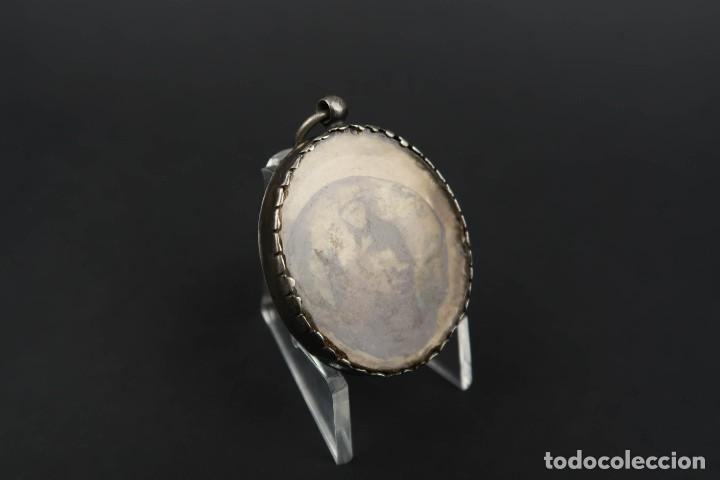 Antigüedades: Antiguo Relicario de Plata con varias Reliquias de Santos Siglo XVIII - Foto 10 - 193957743