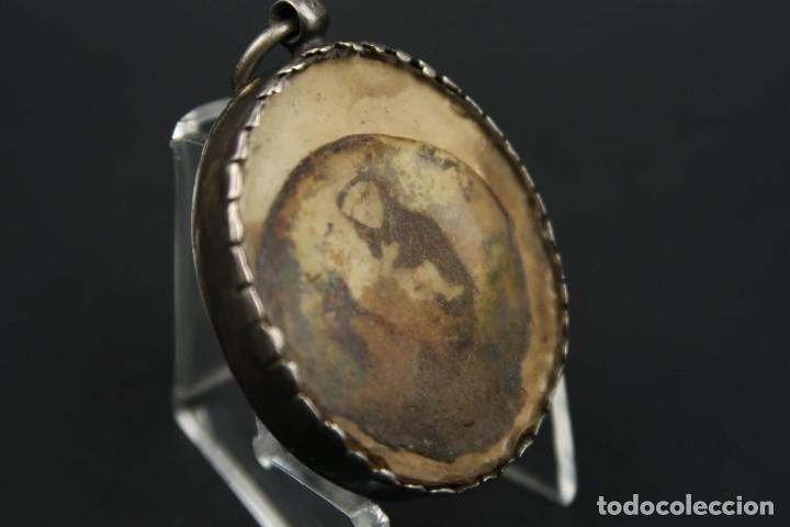 Antigüedades: Antiguo Relicario de Plata con varias Reliquias de Santos Siglo XVIII - Foto 12 - 193957743