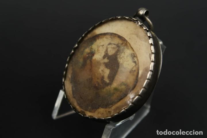 Antigüedades: Antiguo Relicario de Plata con varias Reliquias de Santos Siglo XVIII - Foto 13 - 193957743