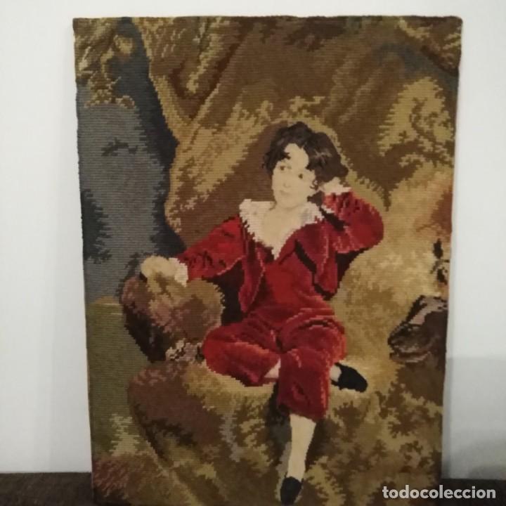 Antigüedades: Antiguos cuadros bordados a mano del siglo xix - Foto 3 - 193957996