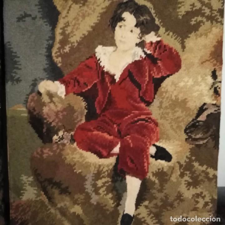 Antigüedades: Antiguos cuadros bordados a mano del siglo xix - Foto 4 - 193957996