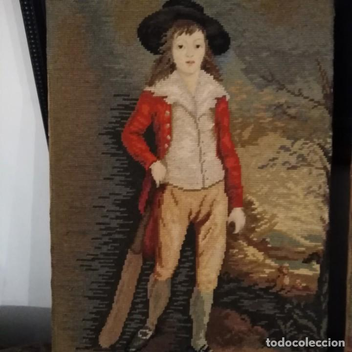Antigüedades: Antiguos cuadros bordados a mano del siglo xix - Foto 5 - 193957996