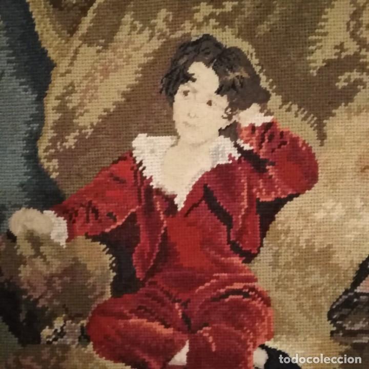 Antigüedades: Antiguos cuadros bordados a mano del siglo xix - Foto 8 - 193957996