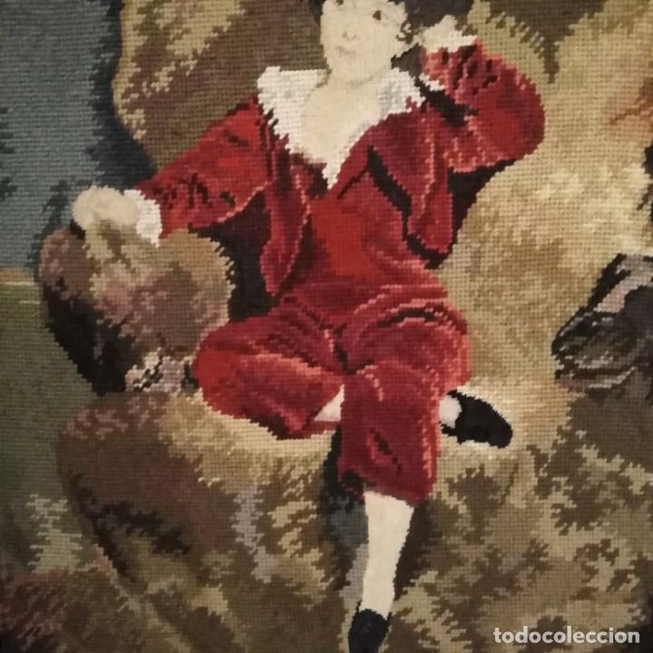 Antigüedades: Antiguos cuadros bordados a mano del siglo xix - Foto 12 - 193957996