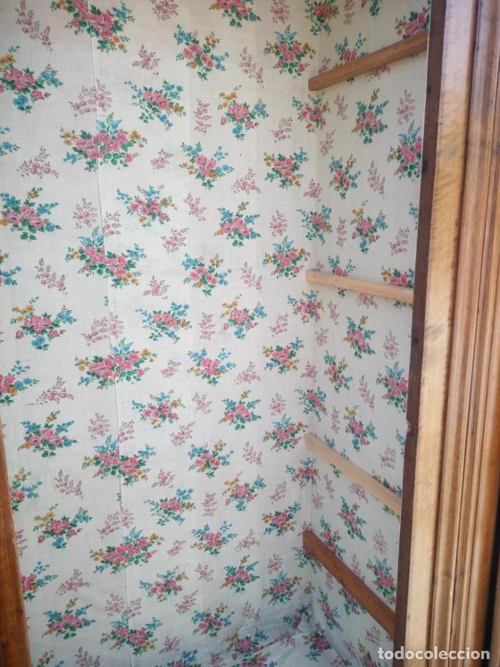 Antigüedades: antiguo armario de cerezo silvestre 2 piezas ensamblado con cuñas de madera,estilo suizo.siglo xix - Foto 15 - 193967007