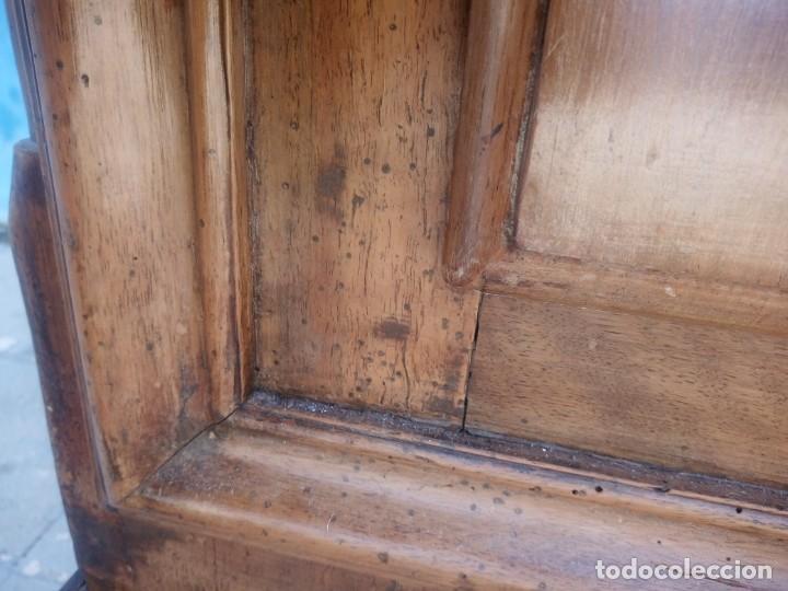 Antigüedades: antiguo armario de cerezo silvestre 2 piezas ensamblado con cuñas de madera,estilo suizo.siglo xix - Foto 31 - 193967007