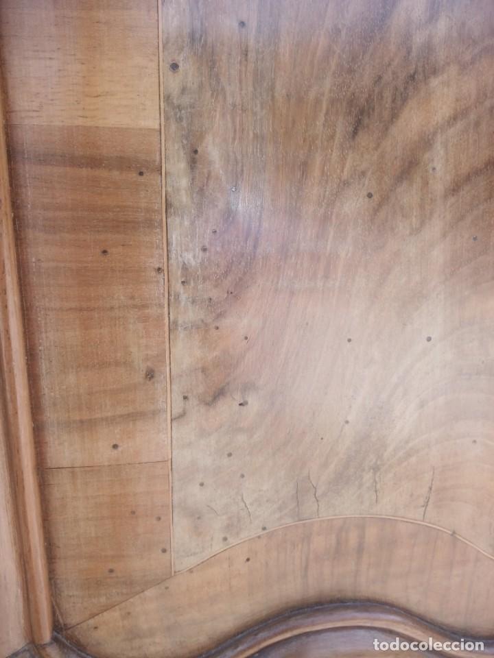 Antigüedades: antiguo armario de cerezo silvestre 2 piezas ensamblado con cuñas de madera,estilo suizo.siglo xix - Foto 35 - 193967007