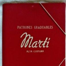 Antigüedades: PATRONES GRADUABLES MARTÍ.ALTA COSTURA.PRIMAVERA,VERANO,OTOÑO,INVIERNO 1956-1957. Lote 193967632